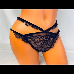 Victoria's Secret Designer Collection Black Panty